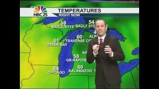 Meteorologist Jason Adams forecast interrupted by a bat!