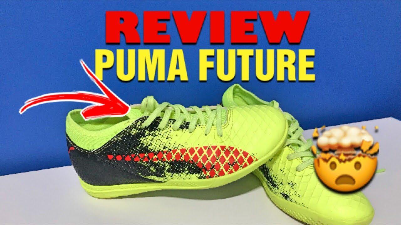 bce650f5efa20 REVIEW- Puma Future Futsal (Amarelo/preto/vermelho) - YouTube
