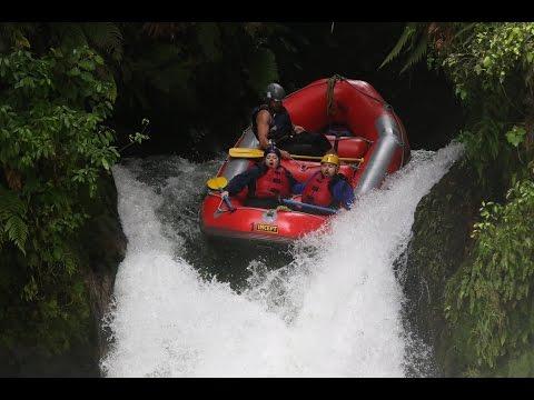 Kaituna River Rafting, New Zealand  - 21ft Waterfall! [GoPro]