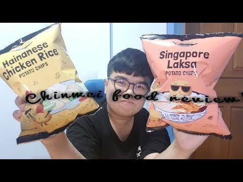 hainanese chicken rice/ singpore laksa potato chips | chinwei food review