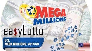 MEGA MILLIONS numbers 8 Aug 2017