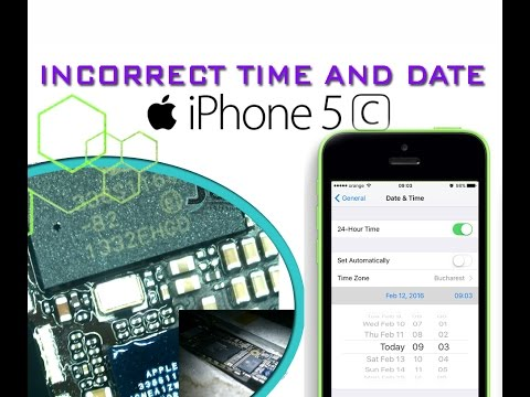 iphone time wrong fix iphone 5c incorrect clock and date issue naprawa 12389