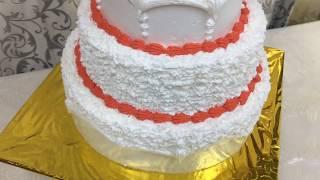 Как собрать и украсить свадебный 3-х ярусный торт / How to do the wedding three-tiered cake