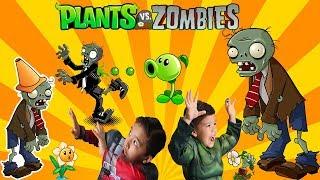 PLANTS vs ZOMBIES | Brinquedo Surpresa desenterrando os ZUMBIS
