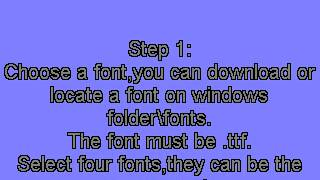 How to change Nokia N73 font