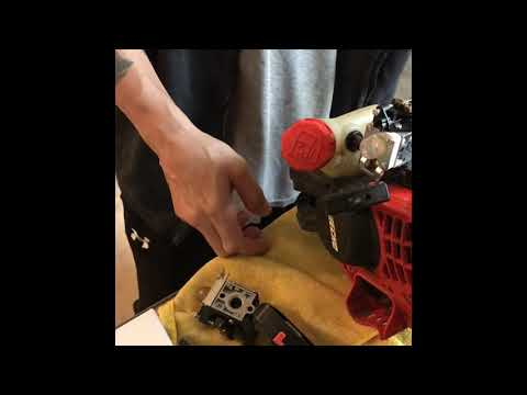 Echo SRM-225 Repair String Trimmer Carburetor replacement
