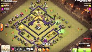 Clash of Clans - Strategi Andalan war TH8 3 star attack - GoHo (HoGoWi, GoWiHo)
