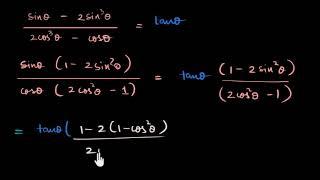 Sin, Cos ve Tan İçeren Trigonometrik Özdeşlik İspatı Örnekleri (Matematik) (Trigonometri) Video