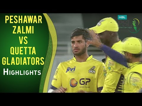 PSL 2017 Match 19: Peshawar Zalmi vs Quetta Gladiators Highlights