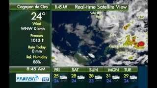 Parasat Weather Update Cagayan de Oro City: January 11, 2013 (8am)