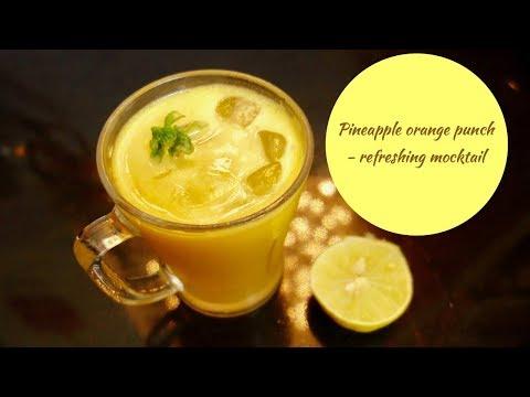 Pineapple Orange Punch - Refreshing Mocktail ( juice) summer drink | Anu's CookBook