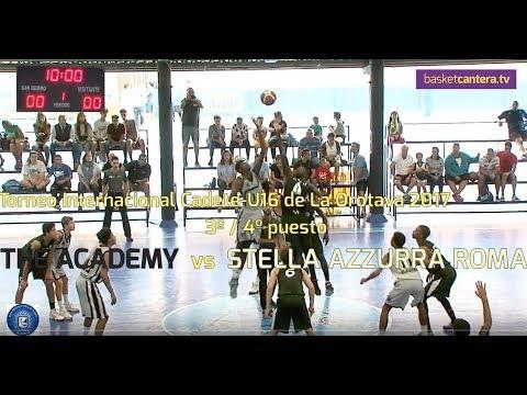 U16M - THE ACADEMY vs. STELLA AZZURRA ROMA.- Torneo Cadete La Orotava (BasketCantera.TV)