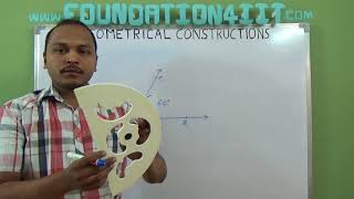 How to Construct an angle 60 degree using Scale and Compass