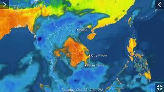 Dự báo thời tiết hôm nay ngày 23/10/2018
