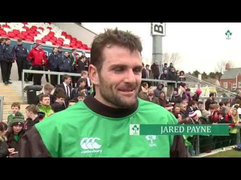 Irish Rugby TV: Ireland Open Training Session At Kingspan Stadium