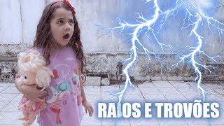 BRINCANDO NA CHUVA COM RAIOS E TROVÕES