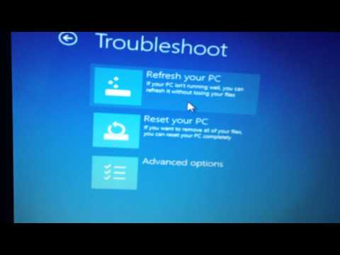 How to factory reset asus notebook windows 8