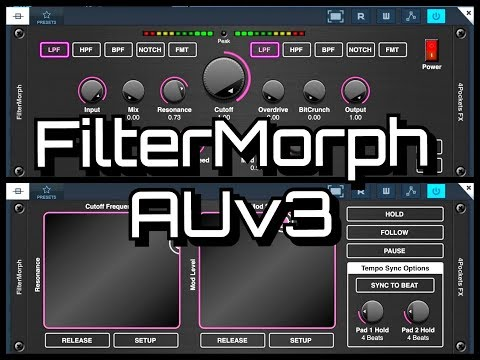 FILTERMORPH AUv3 by 4Pockets - Creative Filter - Modulation - Bit Crusher & Delay - iPad Tutorial