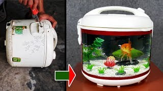 Change Damaged RICE COOKER into an AMAZING AQUARIUM