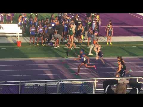 """3/28/19 Aliyah """"Le Le"""" Johnson 1st overall 100m Brooks Wester Middle School @Crowley High School"""