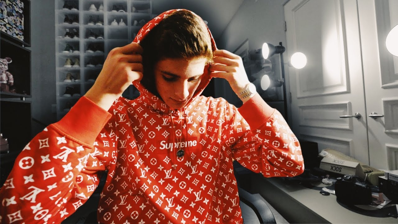 louis vuitton supreme. i got the supreme louis vuitton box logo hoodie!! $$$ louis vuitton supreme