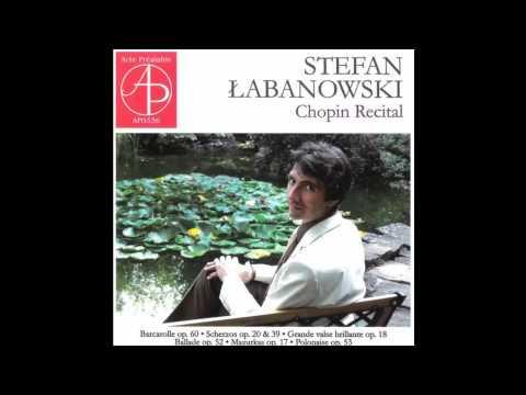 Frédéric Chopin, Scherzo No. 1 in B minor Op. 20, Stefan Łabanowski, piano