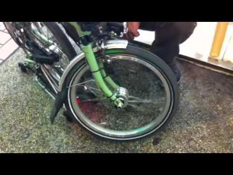 首試 台灣 bikefun brompton 專用 hub dynamo (發電花鼓)之 二 : 未通磁