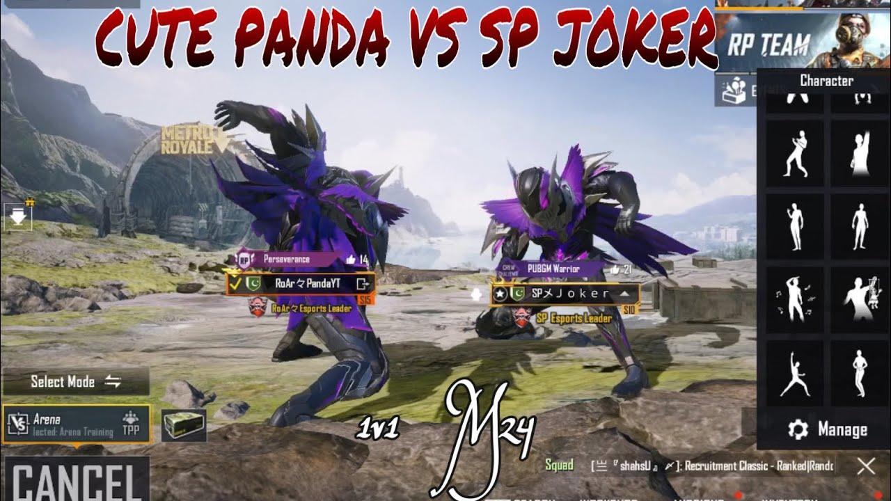 Download 10 Years Old Cute Panda VS Sp Joker 1v1 friendly m24 | Cute Panda | Pubg Mobile