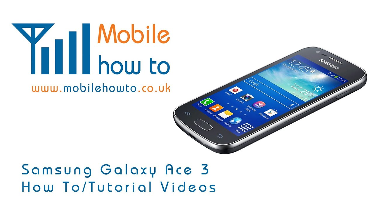 How To Turn Vibrate Mode On & Off For Calls & Messages Samsung Galaxy Ace 3