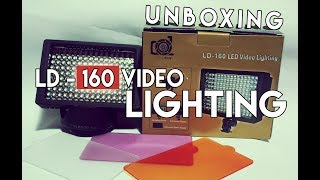 Unboxing dan Review Video LD - 160 LIGHTING Untuk Kamera DSLR Indonesia