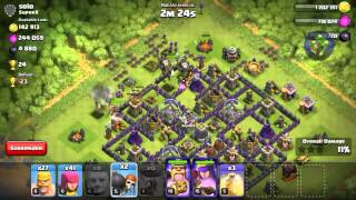Clash of clans epic dark elixir, wall breaker glitch, and big loo