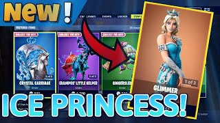 *NEW GLIMMER ICE PRINCESS SKIN* + *CRYSTAL CARRIAGE* + *FLURRY AXE*! (Fortnite Battle Royale)