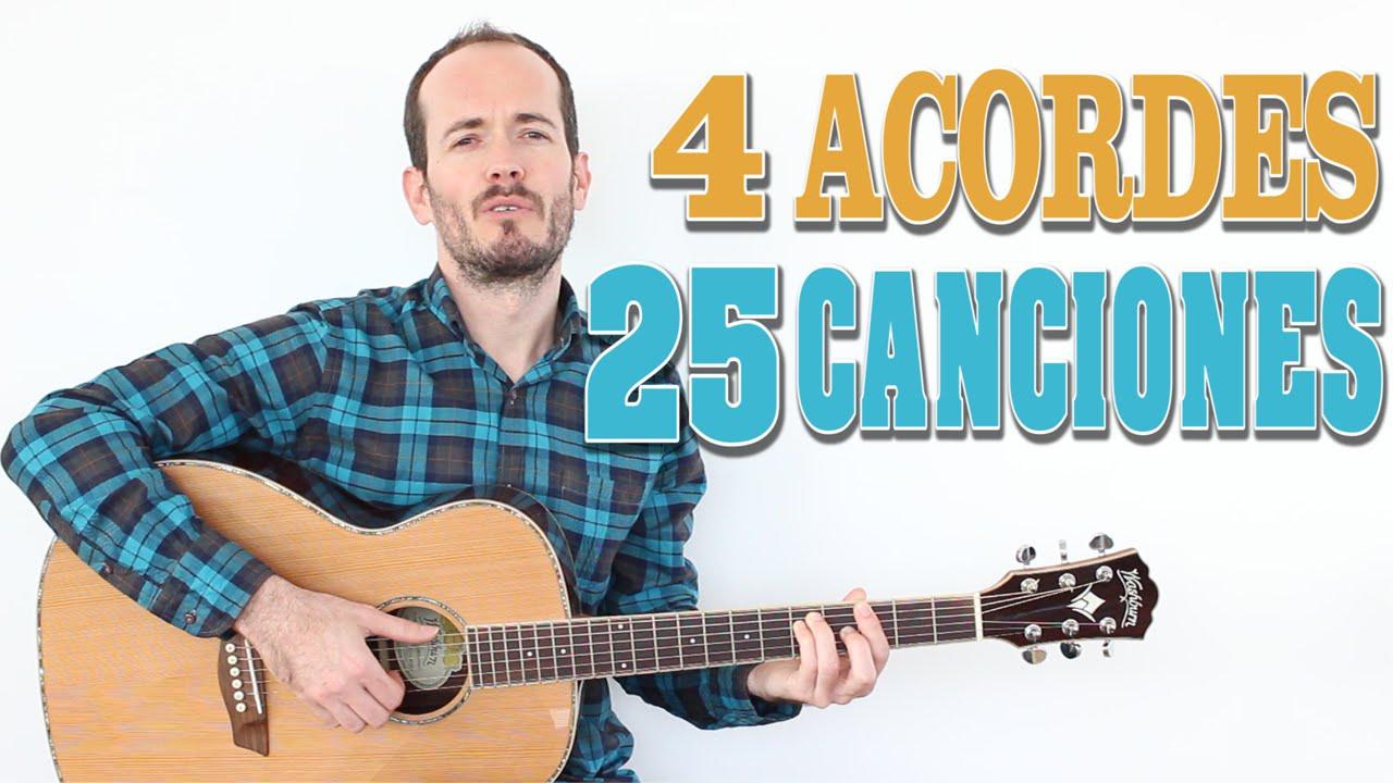 25 Canciones En Español Con 4 Acordes Progresiones De Acordes Fácil Principiantes Chachi Guitar