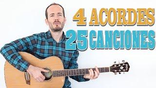 25 canciones en espaol con 4 acordes progresiones de acordes fcil principiantes