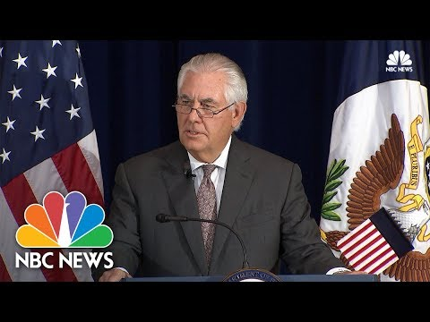 Rex Tillerson: Hate Speech, Racism 'Antithetical To America's Values' | NBC News
