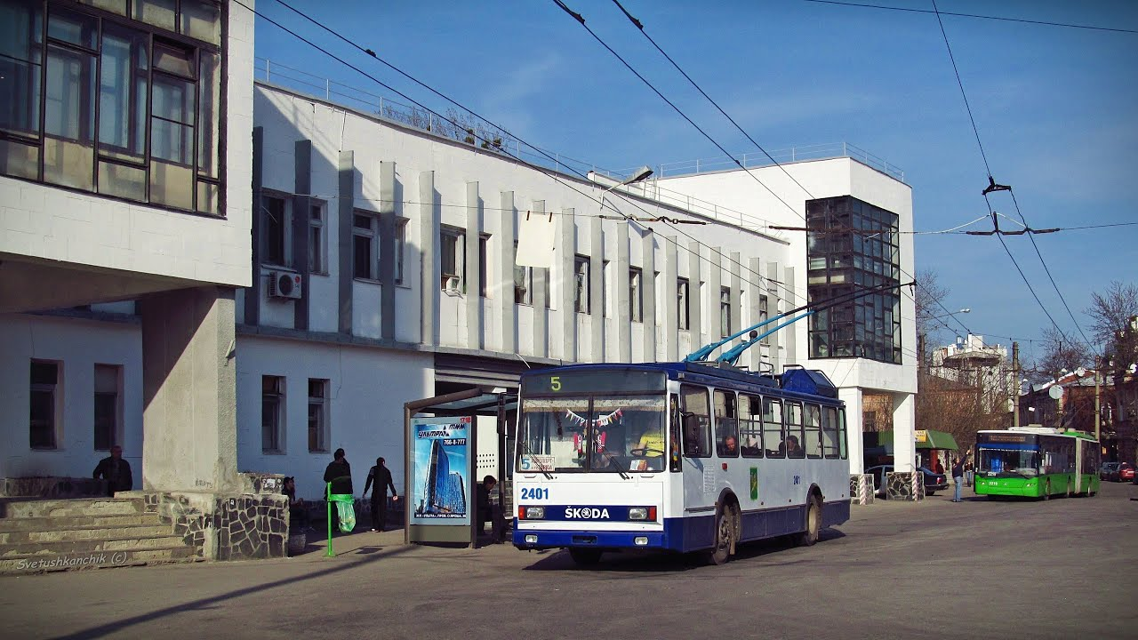 С центральной части Харькова выводят трамваи и тролейбусы