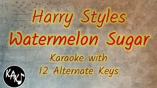 Harry Styles - Watermelon Sugar Karaoke Instrumental Original Lower Higher Female Key