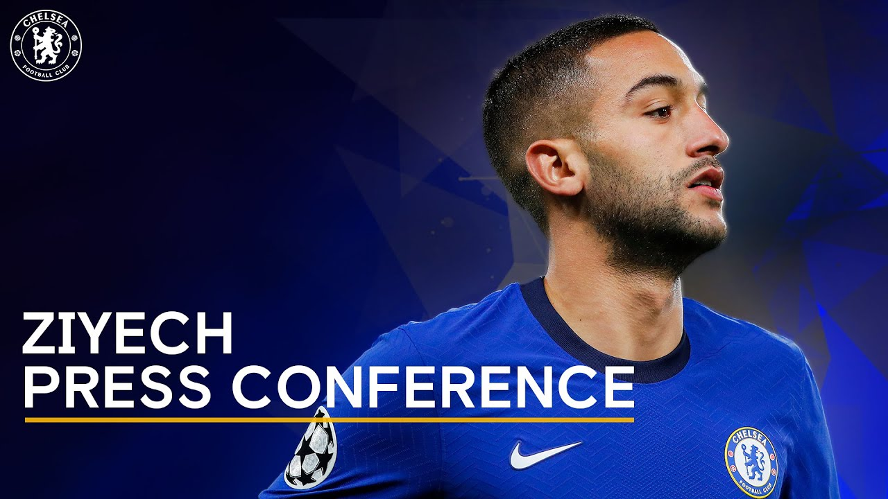 Hakim Ziyech Live Press Conference : Manchester United v Chelsea   Premier League   Chelsea News
