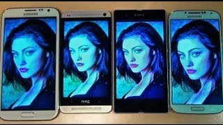 Samsung Galaxy S4 IV Screen Comparison Vs HTC ONE, Sony Xperia Z, Note 2 II Test/Review