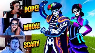 STREAMERS REACT TO *NEW* DANTE & ROSA REACTIVE SKINS - Fortnite Best & Funny Moments #210