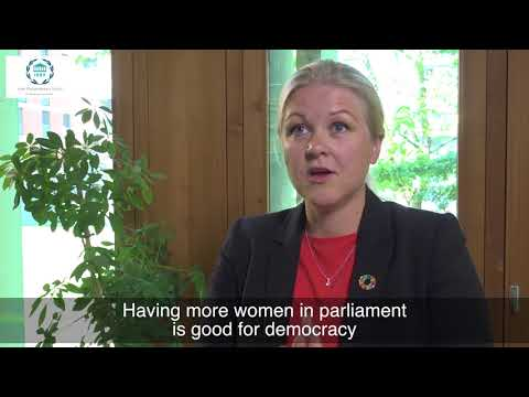 Int'l Day of Parliamentarism: Ulrika Karlsson, Pres., IPU Women MPs Bureau & Swedish Parliamentarian