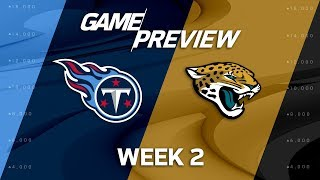 Tennessee Titans vs. Jacksonville Jaguars | Week 2 Game Preview | NFL Playbook thumbnail