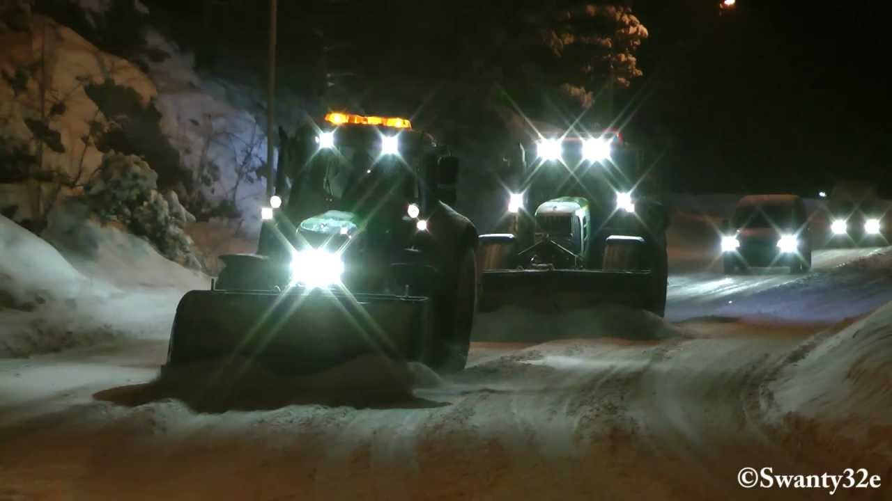 John Deere 6430 Amp 6930 Snow Removal Youtube