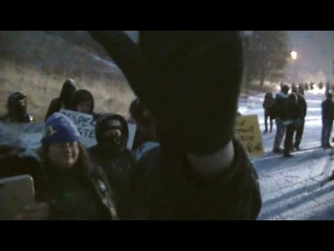 Antifa blocks camera