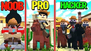 Minecraft - WILD WEST COWBOYS! (NOOB vs PRO vs HACKER)