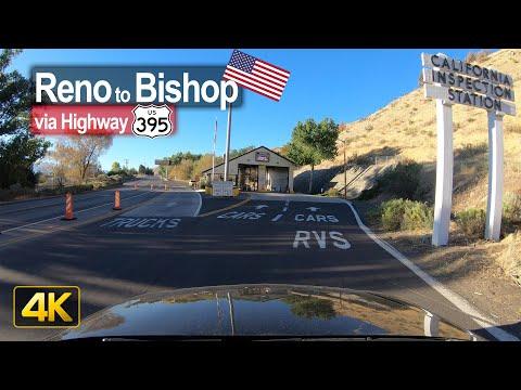 USA Road Trip - Reno NV to Bishop CA in 4K