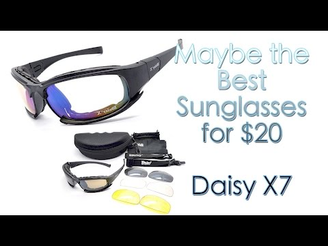 Daisy X7 Military Sunglasses Unboxing and Review