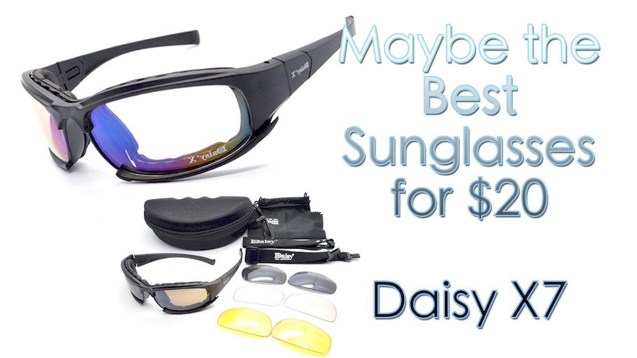 435d8c3b7d8 Daisy X7 Military Sunglasses Unboxing and Review