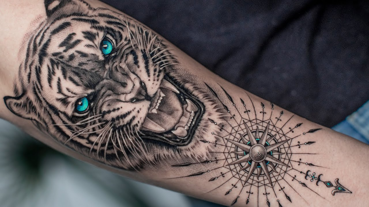 Realistic Growling Tiger Tattoo Time Lapse Youtube ✓ free for commercial use ✓ high quality images. realistic growling tiger tattoo time lapse