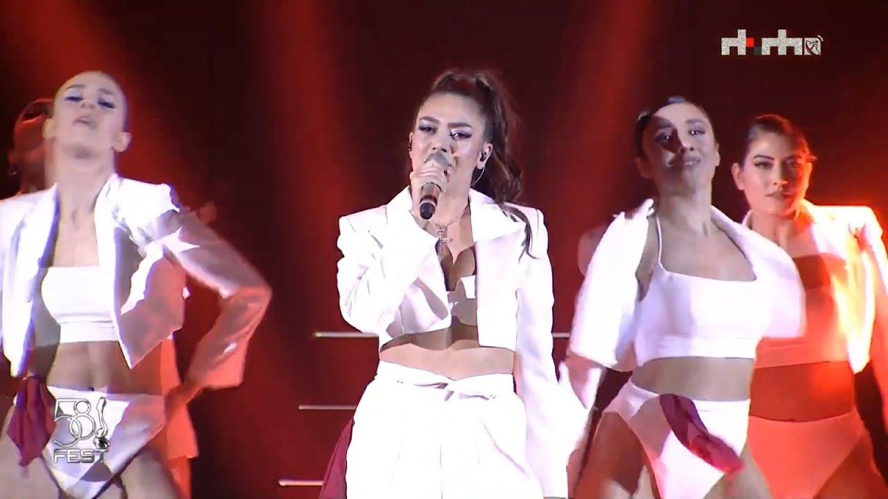 Elvana Gjata - Me Tana   LIVE // FIK 58 Semifinal 1 1080p 60fps - YouTube